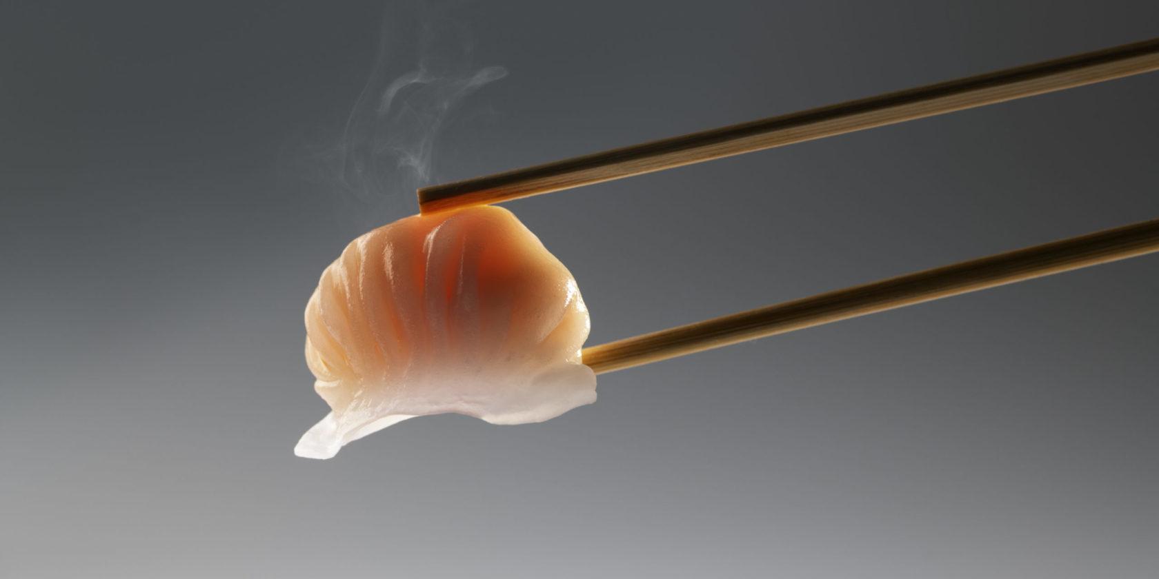 Har gau in Chopsticks