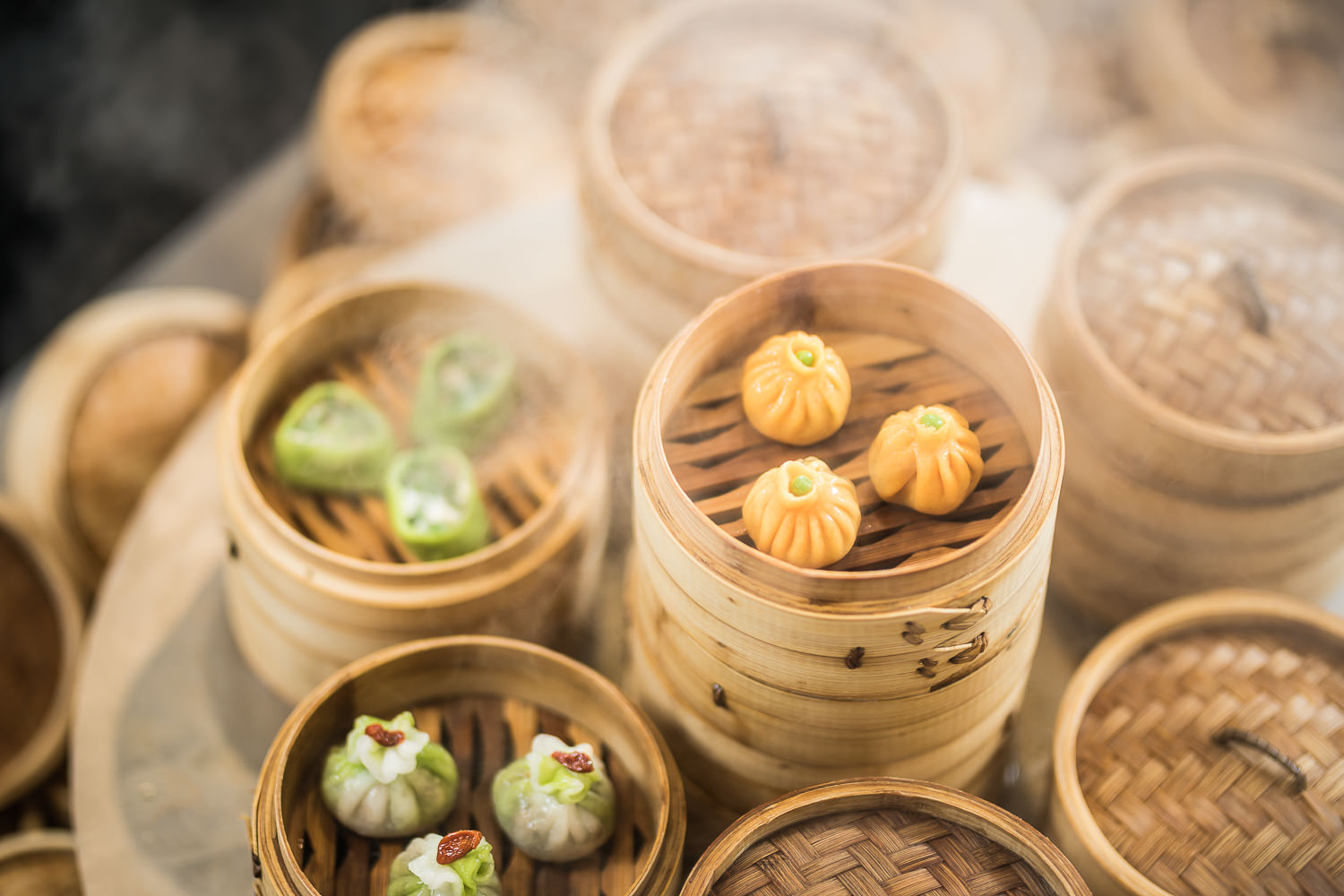 Dim Sum in Basket Tower