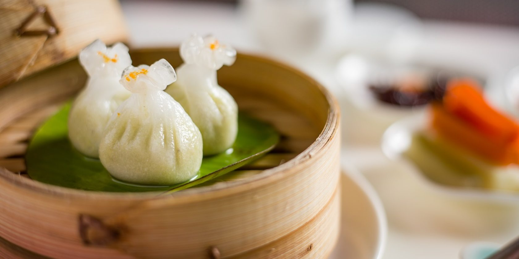 Truffle Edamame Dumplings