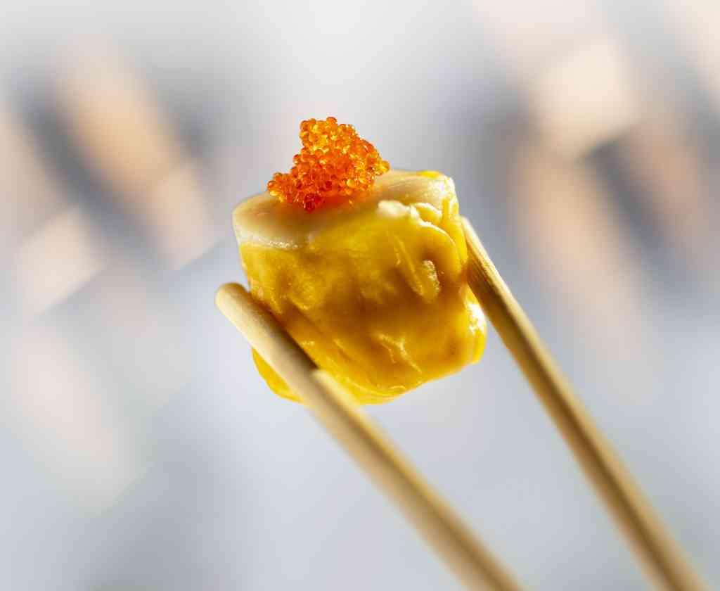 Scallop Shumai in a Chopstick