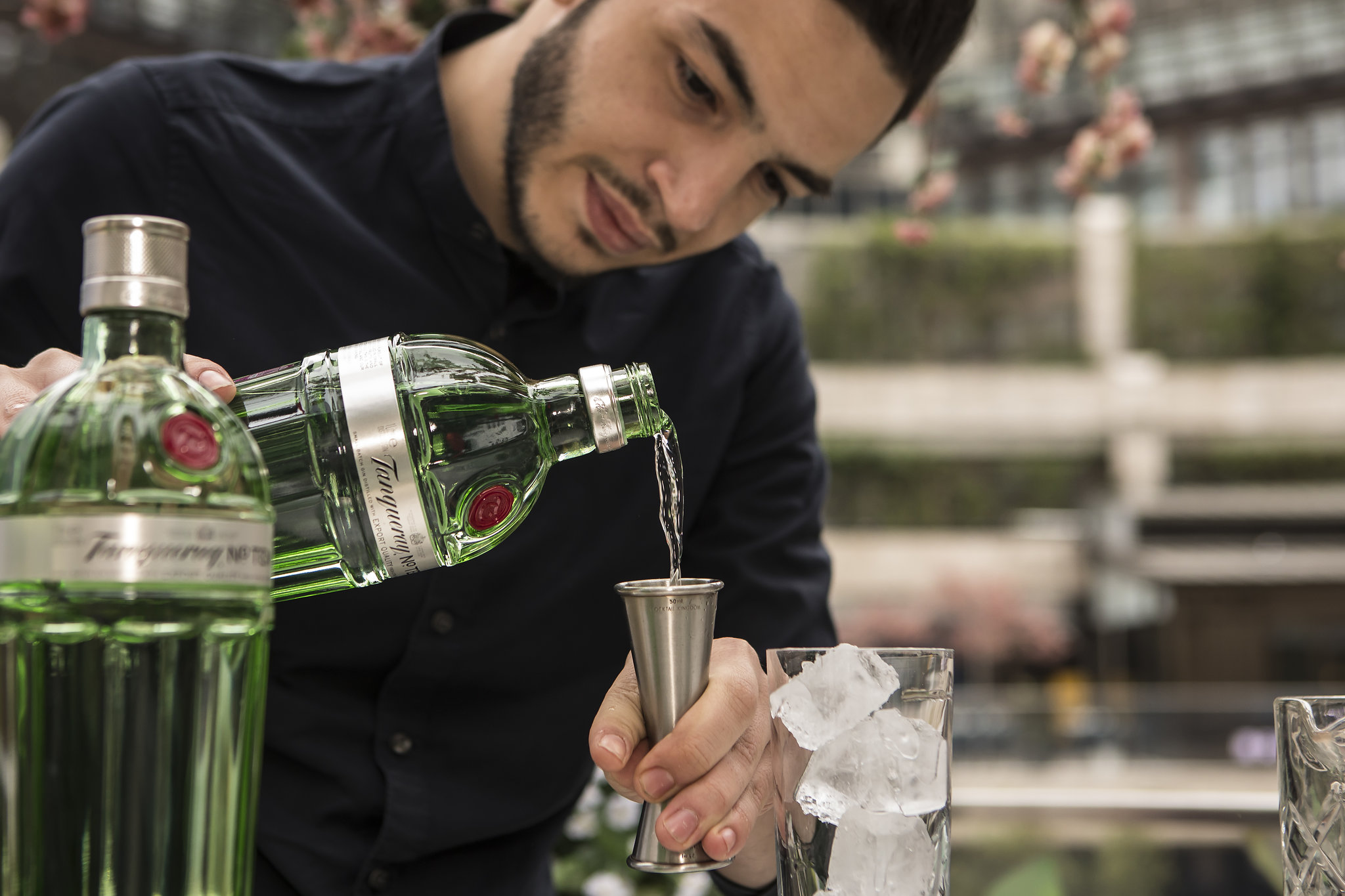 Bartender Pouring Tanqueray Gin