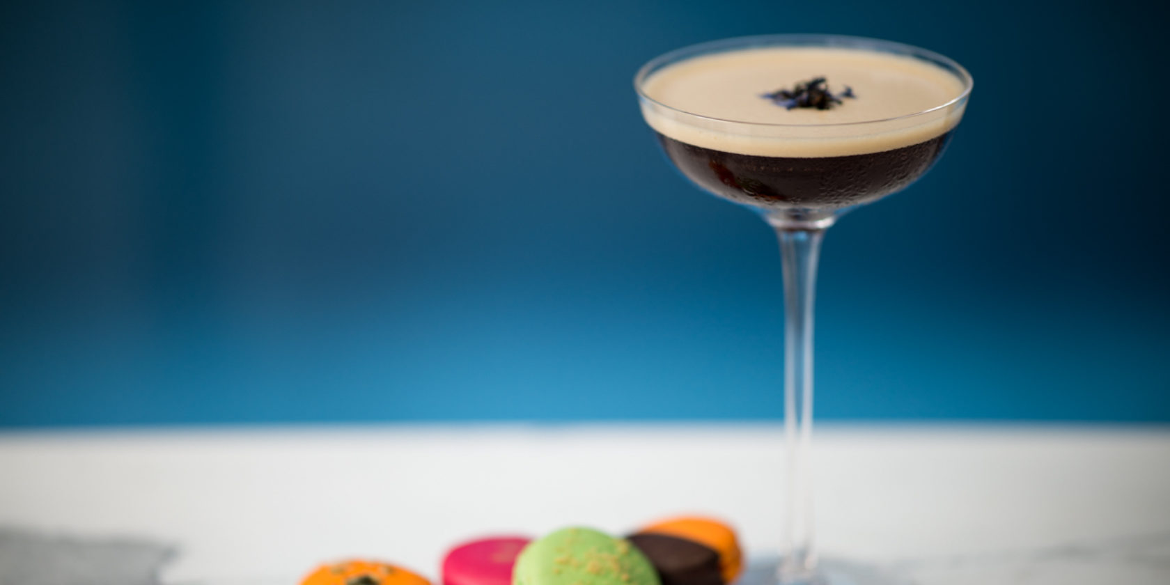 The Early Martini with Grey Goose Vodka and Macarons