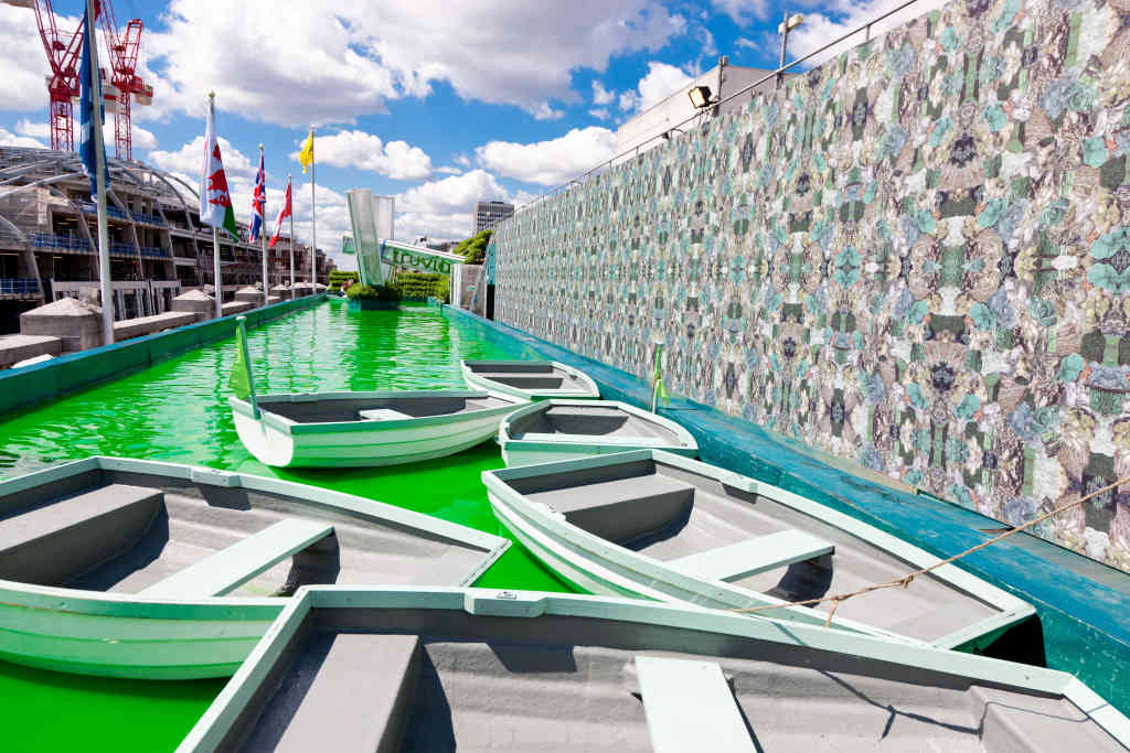 Boats in Green Water