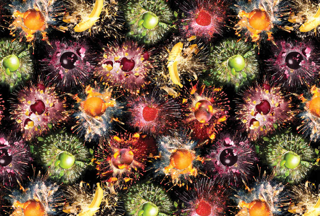 Fruit Fireworks Pattern by Sam Bompas and Harry Parr